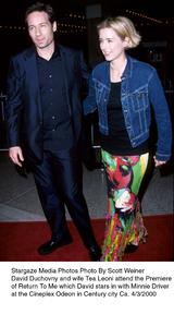 """Return To Me"" Premiere,David Duchovny and Tea Leoni.4/2/00. © 2000 Scott Weiner - Image 16680_0105"