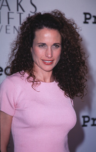 """""""Project A.L.S. - 2nd Annual,""""Andie MacDowell.  4/10/00. © 2000 Glenn Weiner - Image 16687_0023"""