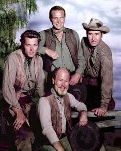 """Rawhide"" Clint Eastwood, Eric Fleming, Paul Brinegar, Sheb Wooley 1965 Photo by Gabi Rona - Image 1675_0001"