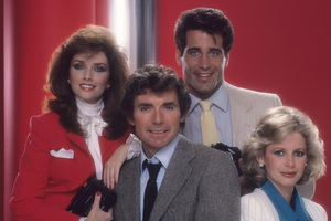 """Glitter""David Birney, Morgan Brittany, Christopher Mayer, Dianne Kay1984 © 1984 Mario Casilli - Image 16755_0019"