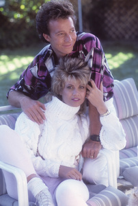 Markie Post and her husband, Michael A. Ross1986© 1986 Mario Casilli - Image 16766_0011