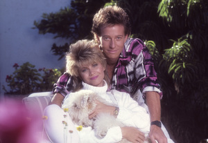 Markie Post and her husband, Michael A. Ross1986© 1986 Mario Casilli - Image 16766_0013