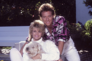 Markie Post and her husband, Michael A. Ross1986© 1986 Mario Casilli - Image 16766_0014