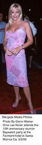 """""""Baywatch 10th Anniversary Party,""""Gina Lee Nolan.  5/2/00. © 2000 Glenn Weiner - Image 16823_0106"""