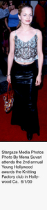 """Young Hollywood Awards - 2nd Annual,""Mena Suvari.  6/1/00. © 2000 Weiner - Image 16887_0100"