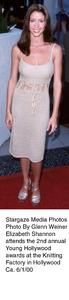 """Young Hollywood Awards - 2nd Annual,""Elizabeth Shannon.  6/1/00. © 2000 Glenn Weiner - Image 16887_0102"