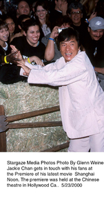 """Shanghai Noon"" Premiere,Jackie Chan.  5/23/00. © 2000 Glenn Weiner - Image 16889_0105"