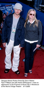 """Road Trip"" Premiere,Ryan Phillippe and wife Reese Witherspoon.5/11/00. © 2000 Glenn Weiner - Image 16890_0103"