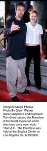 """Titan A.E."" Premiere,Tom Green and Drew Barrymore.6/13/00. © 2000 Glenn Weiner - Image 16905_0103"