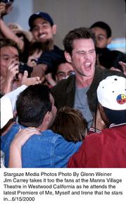 """Me, Myself, and Irene,"" Premiere,Jim Carrey.  6/15/00. © 2000 Glenn Weiner - Image 16907_0107"