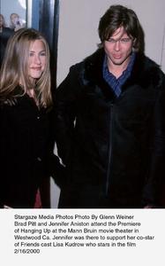"""Hanging Up"" Premiere,Jennifer Aniston & Brad Pitt.2/16/00. © 2000 Glenn Weiner - Image 16908_0100"