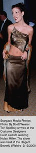 """Costume Designers Guild Awards,""Tori Spelling.  2/12/00. © 2000 Scott Weiner - Image 16944_0103"
