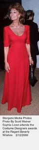 """Costume Designers Guild Awards,""Sophia Loren.  2/12/00. © 2000 Scott Weiner - Image 16944_0105"