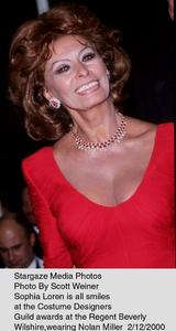"""Costume Designers Guild Awards,""Sophia Loren.  2/12/00. © 2000 Scott Weiner - Image 16944_0106"