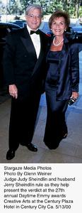 """Daytime Emmy Awards - 27th Annual,""Judge Judy Sheindlin and husband Jerry Sheindlin.  5/13/00. © 2000 Glenn Weiner - Image 16945_0101"