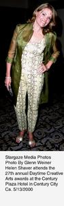 """Daytime Emmy Awards - 27th Annual,""Helen Shaver.  5/13/00. © 2000 Glenn Weiner - Image 16945_0103"
