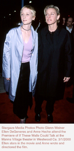 """""""If These Walls Could Talk Two"""" Premiere,Anne Heche and Ellen DeGeneres.  3/1/00. © 2000 Glenn Weiner - Image 16975_0100"""