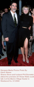 """If These Walls Could Talk Two"" Premiere,Sharon Stone and husband Phil Bronstein.3/01/00. © 2000 Glenn Weiner - Image 16975_0101"