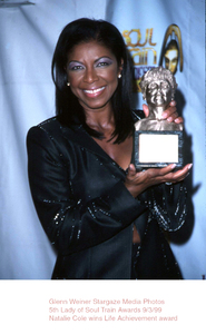 """""""Lady Of Soul Train Awards - 5th Annual,""""Natalie Cole.  9/3/99. © 1999 Glenn Weiner - Image 16977_0101"""