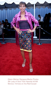 """Lady Of Soul Train Awards - 5th Annual,""Monica.  9/3/99. © 1999 Glenn Weiner - Image 16977_0103"