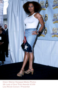 """Lady Of Soul Train Awards - 5th Annual,""Lisa Nicole.  9/3/99. © 1999 Glenn Weiner - Image 16977_0104"