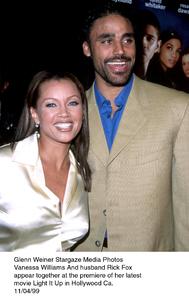 """Light It Up"" Premiere,Vanessa Williams and husbandRick Fox.  11/04/99. © 1999 Glenn Weiner - Image 16978_0101"