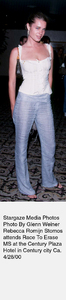 """Race To Erase MS,""Rebecca Romijn.  4/28/00. © 2000 Glenn Weiner - Image 16989_0100"