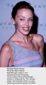 """Tanqueray London Import Party,""Kylie Minogue.  1/21/00. © 2000 Glenn Weiner - Image 16993_0104"