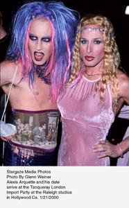 """""""Tanqueray London Import Party,""""Alexis Arquette and his date.1/21/00. © 2000 Glenn Weiner - Image 16993_0109"""