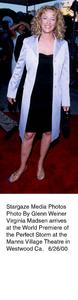 """Perfect Storm, The"" Premiere,Virginia Madsen.  6/26/00. © 2000 Glenn Weiner - Image 17015_0100"