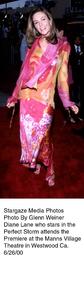 """Perfect Storm, The"" Premiere,Diane Lane.  6/26/00. © 2000 Glenn Weiner - Image 17015_0102"