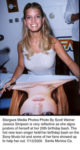 Jessica Simpson on her 20th Birthday Party.7/12/00. © 2000 Scott Weiner - Image 17018_0101