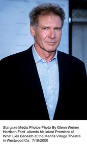 """""""What Lies Beneath"""" Premiere,Harrison Ford.  7/18/00. © 2000 Glenn Weiner - Image 17020_0103"""