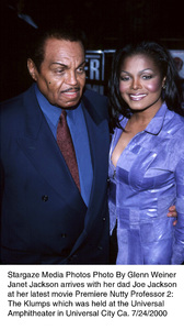 """The Nutty Professor 2: The Klumps"" Premiere,Janet Jackson with father Joe Jackson.  7/24/00. © 2000 Glenn Weiner - Image 17045_0101"