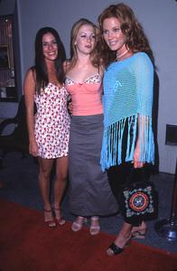 """WB Summer Press Party - 2000,""Soleil Moon Frye, Melissa Joan Hart,and Elisa Donovon.  7/24/00. © 2000 Glenn Weiner - Image 17046_0010"
