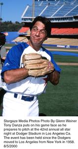 """Hollywood Stars Baseball Game - 42 Annual""Tony Danza.  8/5/00. © 2000 Glenn Weiner - Image 17107_0100"