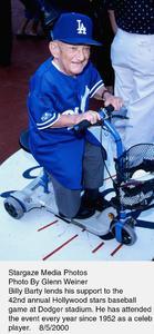 """Hollywood Stars Baseball Game - 42 Annual,""Billy Barty.  8/5/00. © 2000 Glenn Weiner - Image 17107_0101"