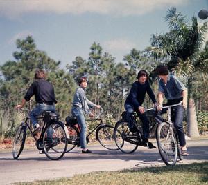 """Help!"" The Beatles:Paul McCartney, John Lennon,  Ringo Starr,and George Harrison.1965/UAPhoto by David Hurn/**I.V. - Image 17132_0001"
