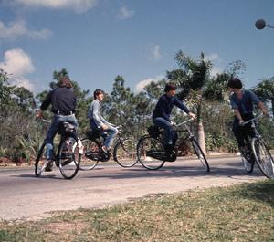 """Help!"" The Beatles:Paul McCartney, John Lennon, Ringo Starr,and George Harrison.1965/UAPhoto by David Hurn/**I.V. - Image 17132_0002"