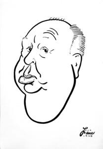 Alfred Hitchcock1948Celebrity Caricatures © 1978 Jack Lane - Image 17150_0004