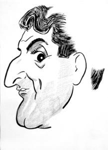 Danny Thomas1950Celebrity Caricatures © 1978 Jack Lane - Image 17150_0005