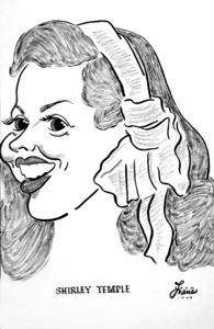 Shirley Temple1949Celebrity Caricatures © 1978 Jack Lane - Image 17150_0006