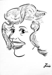 Dinah Shore1949Celebrity Caricatures © 1978 Jack Lane - Image 17150_0008
