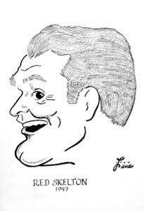 Red Skelton1947Celebrity Caricatures © 1978 Jack Lane - Image 17150_0009