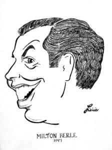 Milton Berle1947Celebrity Caricatures © 1978 Jack Lane - Image 17150_0015