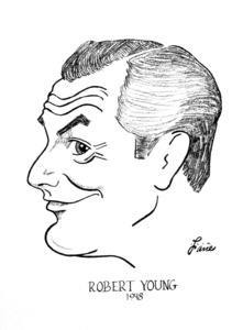Robert Young1948Celebrity Caricatures © 1978 Jack Lane - Image 17150_0016