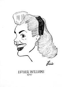 Esther Williams1947Celebrity Caricatures © 1978 Jack Lane - Image 17150_0017