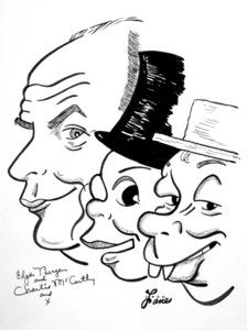 Edgar Bergen1949Celebrity Caricatures © 1978 Jack Lane - Image 17150_0020