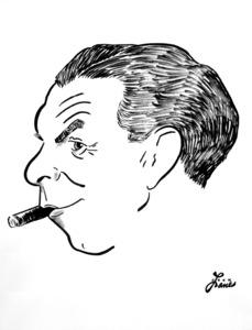 George Burns1949Celebrity Caricatures © 1978 Jack Lane - Image 17150_0023