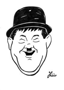 Oliver HardyCelebrity Caricatures © 2000 Jack Lane - Image 17150_0038